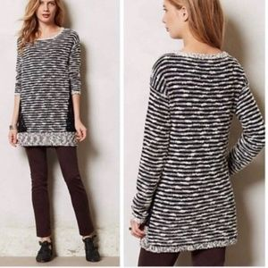 Anthropologie Sweaters - Anthropologie Moth Staccato Stripes Lace Sweater L